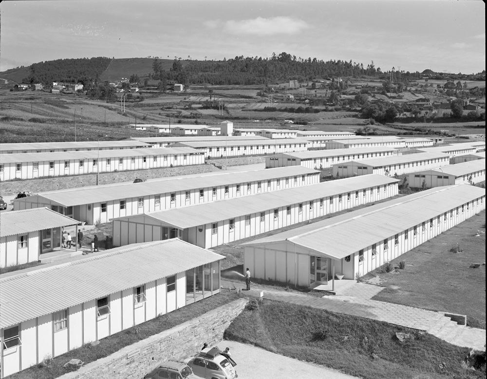 O Burgo das Nacións, en Compostela, no ano 1965. Arquivo Pando