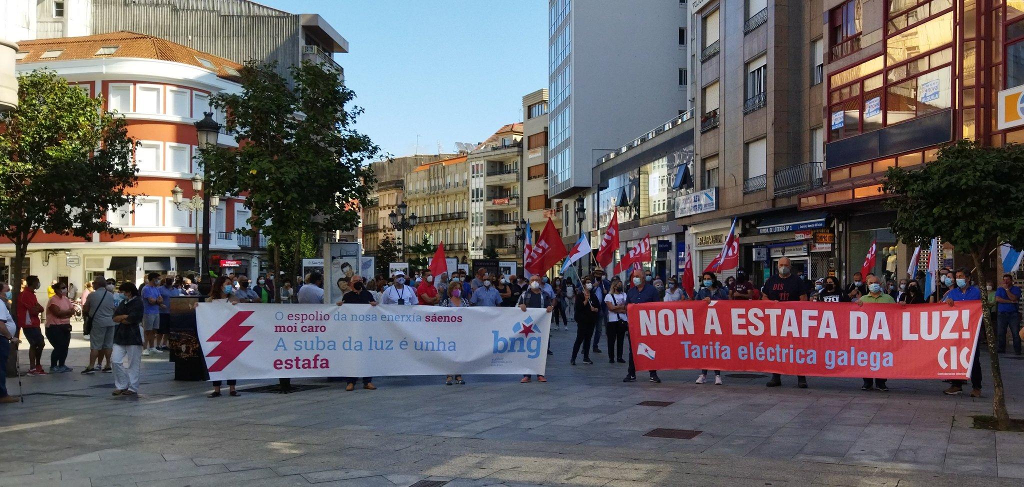 Concentración da CIG en Vilagarcía contra o prezo da electricidade