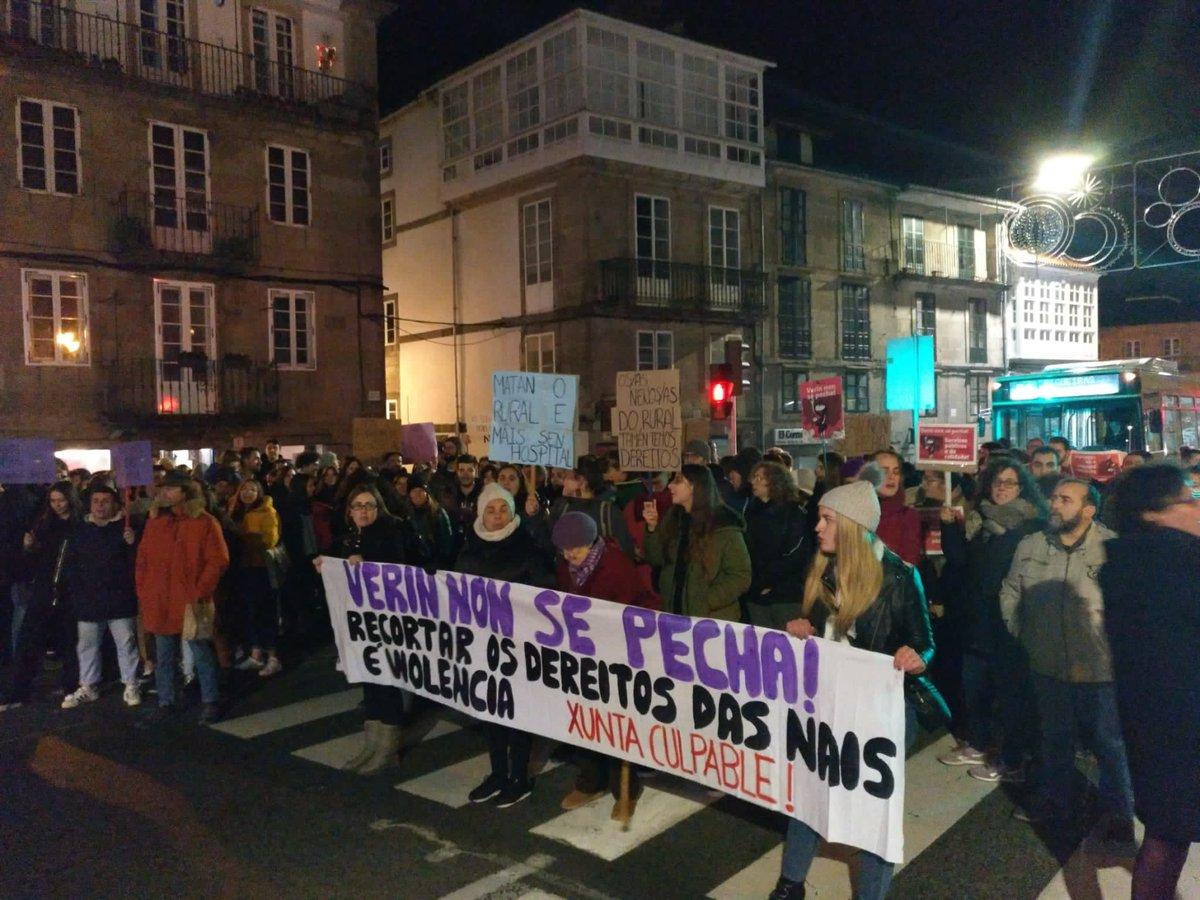 Manifestación en Santiago contra o peche do paridoiro de Verín   BNG