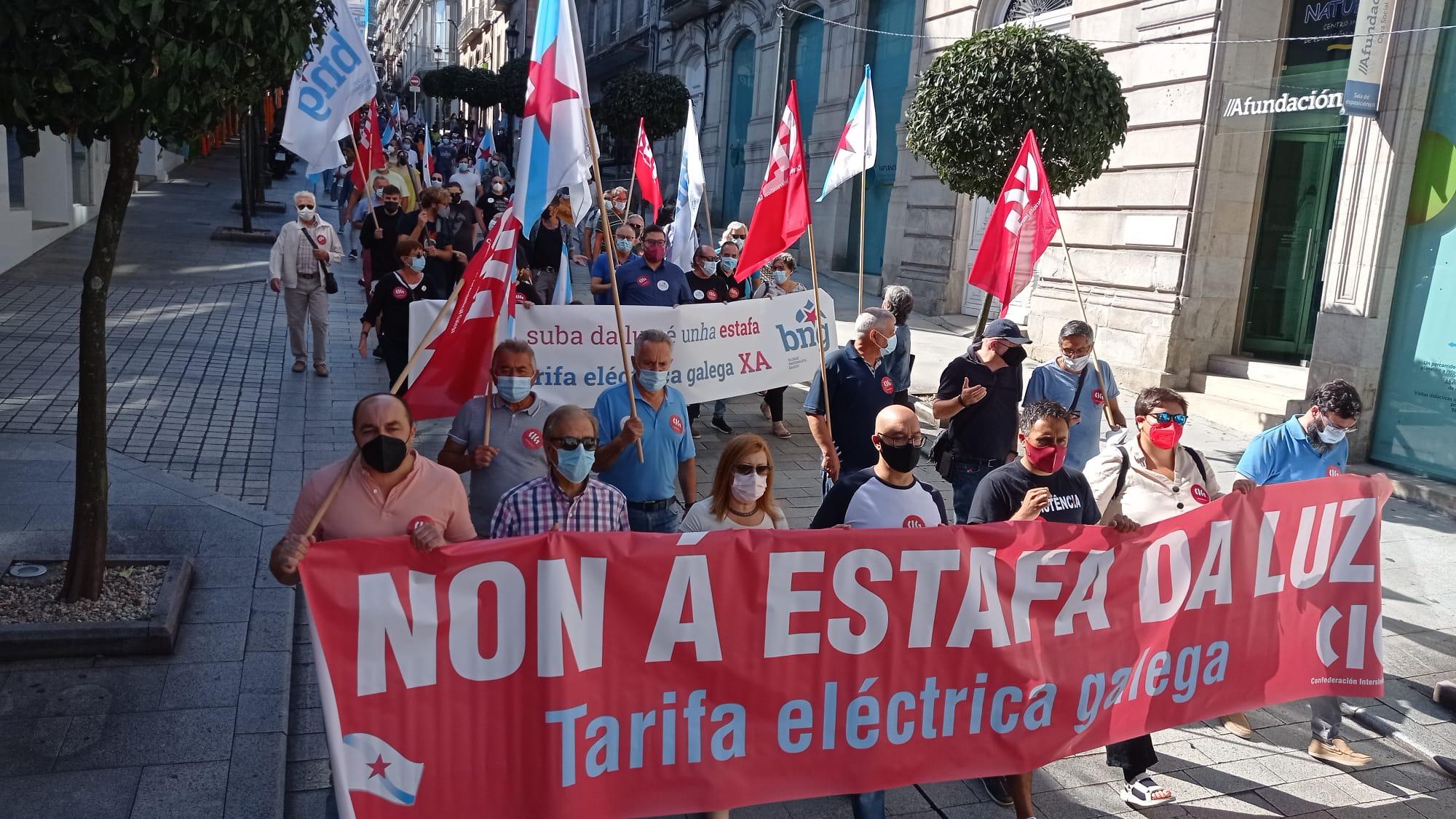 Marcha da CIG en Vigo contra o prezo da electricidade
