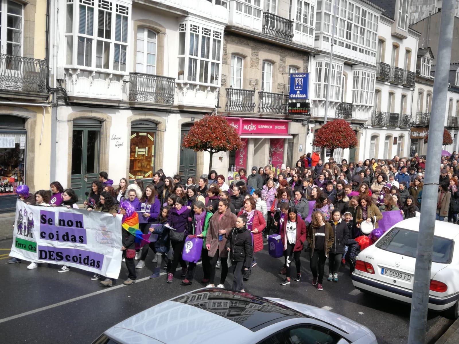 Manifestación do 8M en Vilalba divulgada por @PSdeG