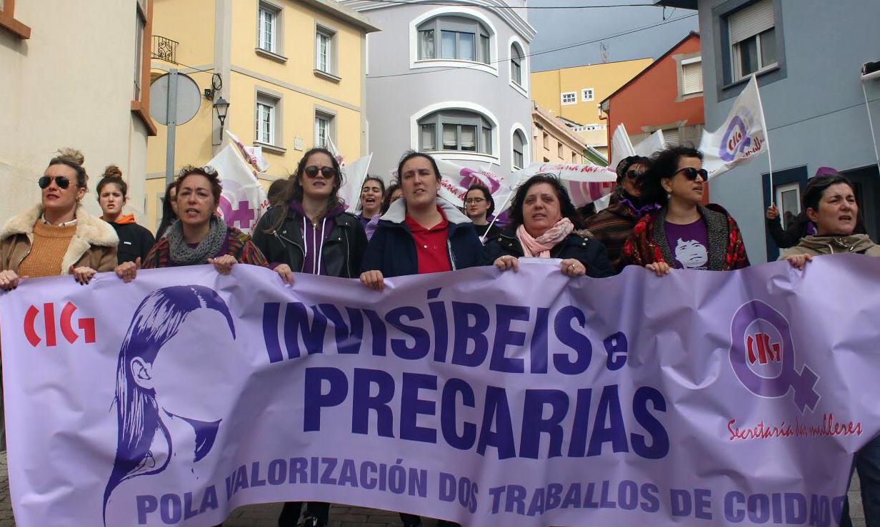 Manifestación do 8M en Viveiro