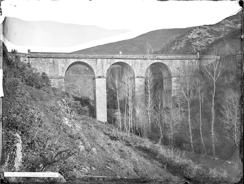 Viaduto de Cruzul (Becerreá) a finais do século XIX
