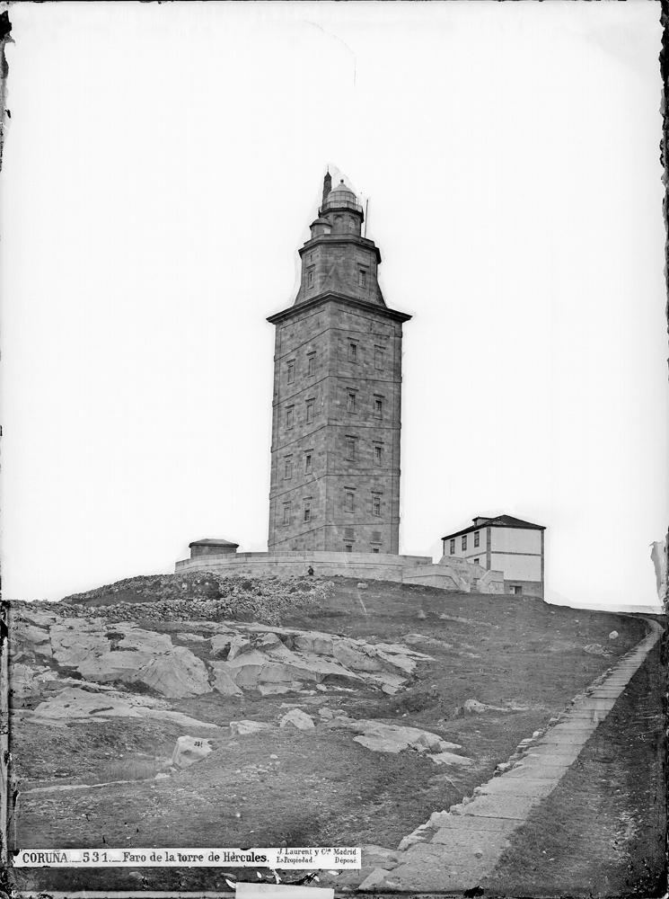 Torre de Hércules a finais do século XIX