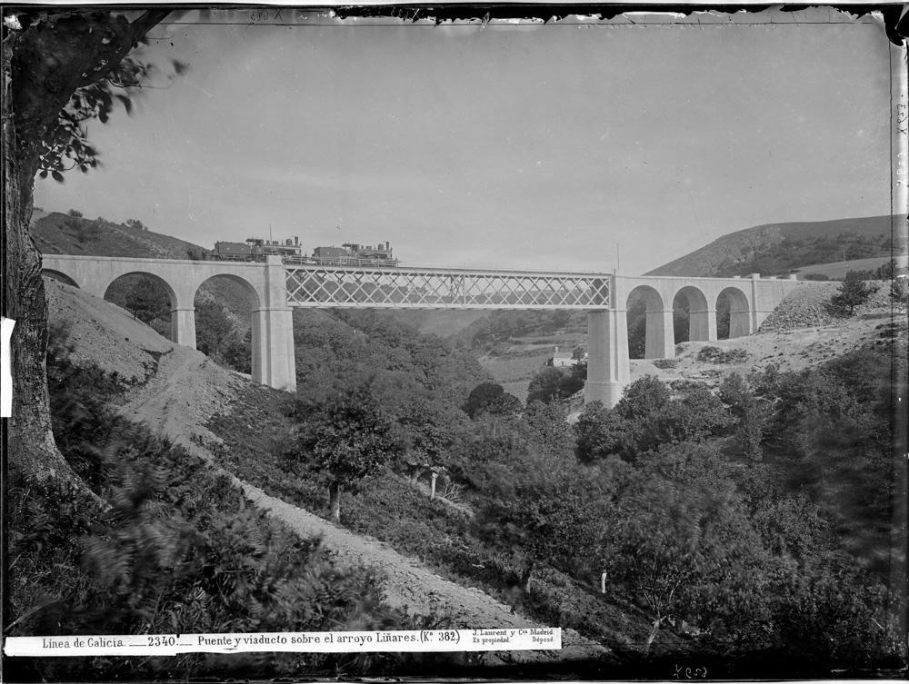 Ponte sobre o Liñares a finais do século XIX