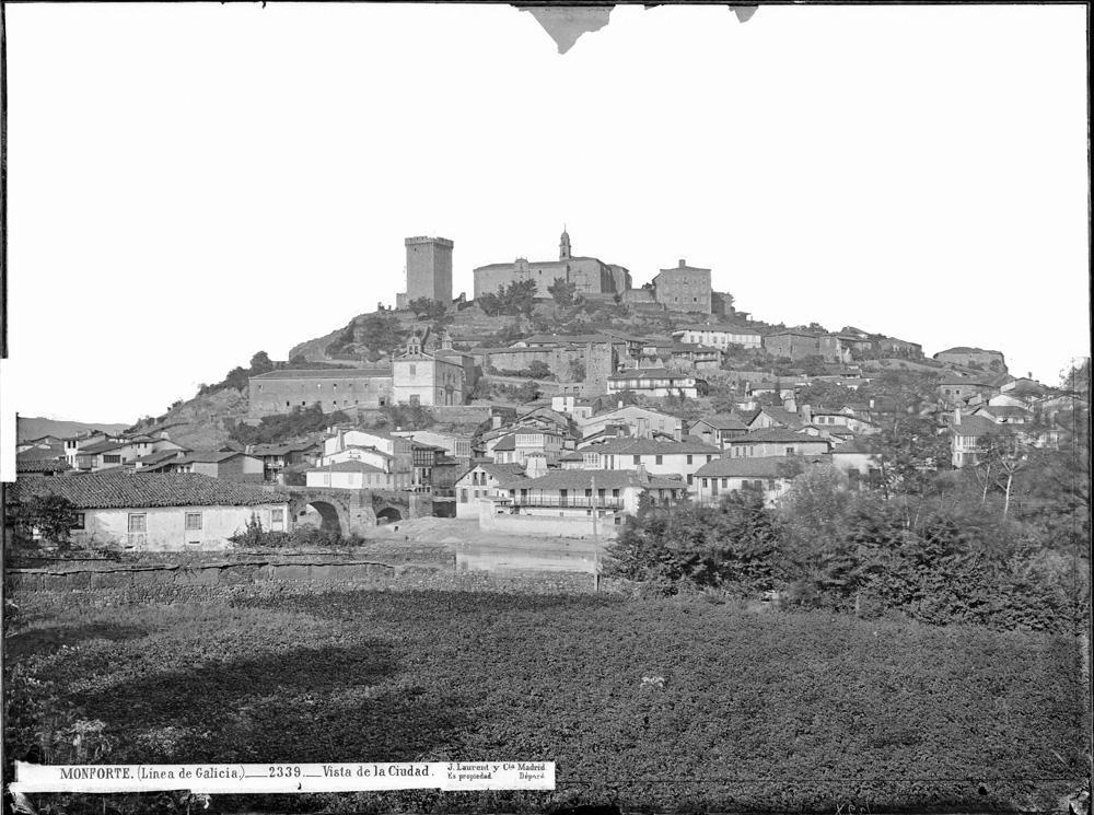 Vista xeral de Monforte a finais do século XIX
