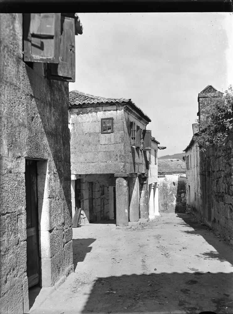 Pontevedra. Rúa da Formigueira. Arquivo de Otto Wunderlich