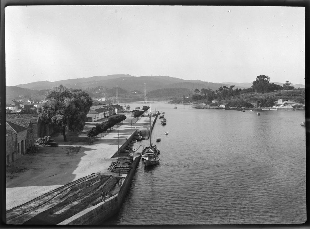 Porto pesqueiro de Pontevedra. Arquivo de Otto Wunderlich