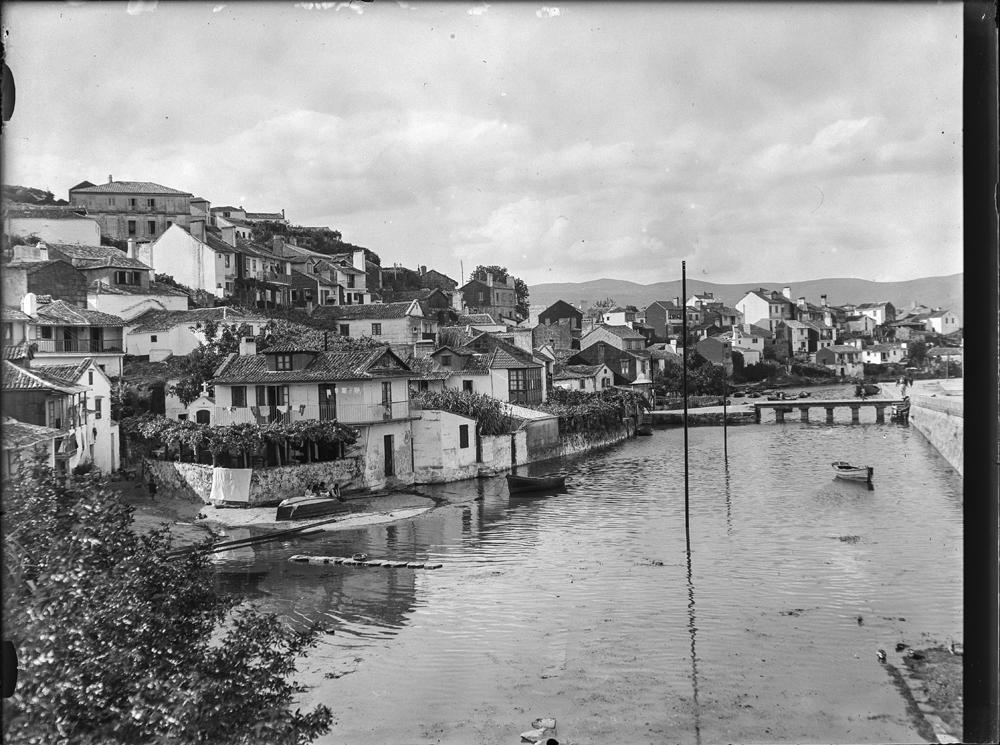Casco histórico de Marín. Arquivo de Otto Wunderlich