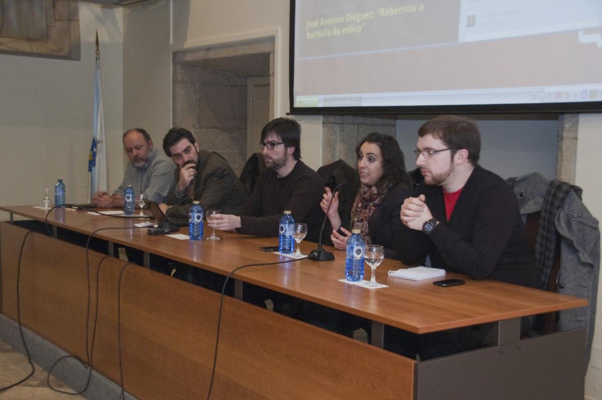 Lara Graña, falando do proxecto xornalístico de Praza