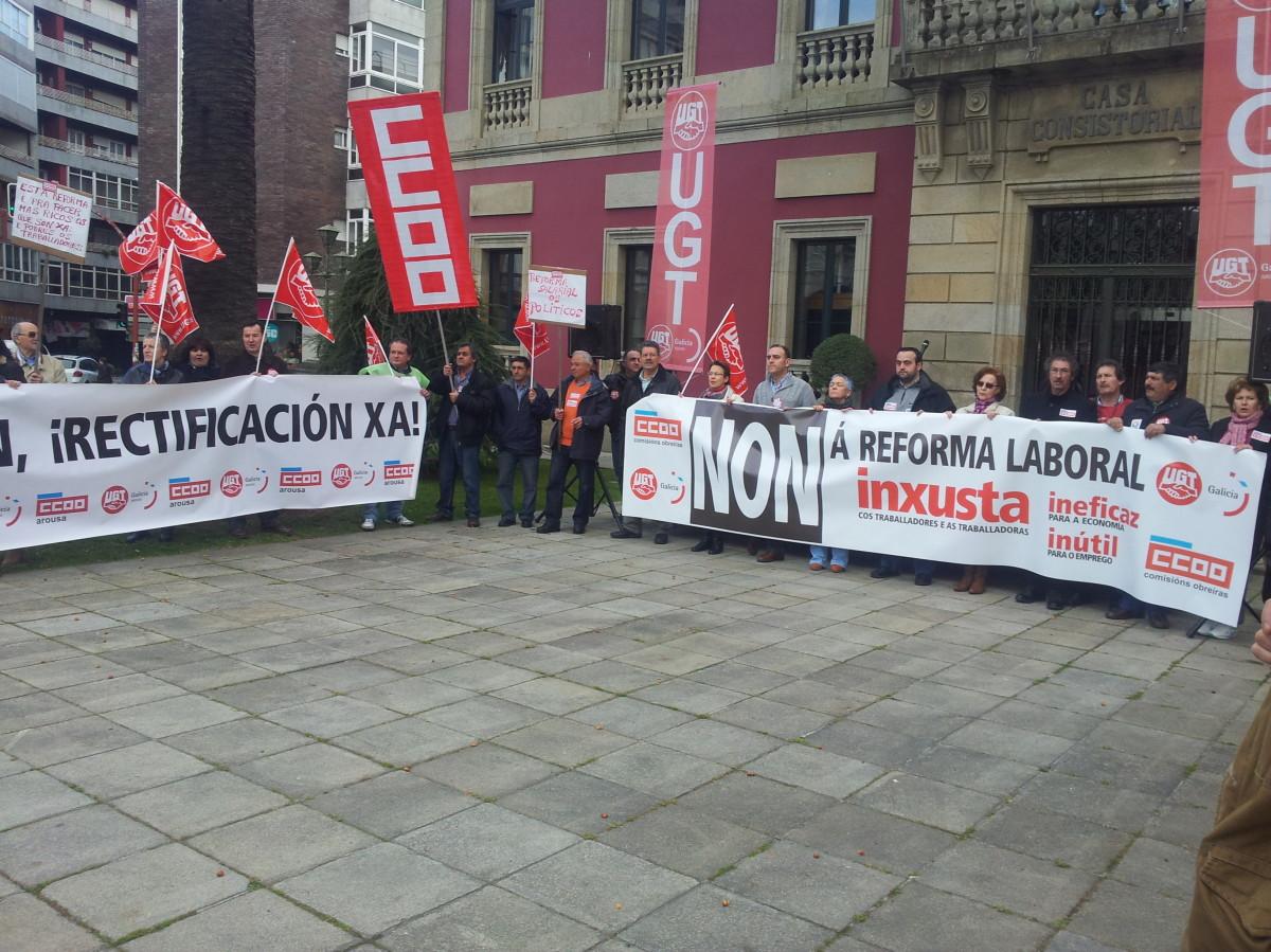 Protesta contra a reforma laboral en Vilagarcía de Arousa