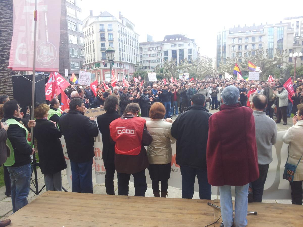 Remate da manifestación en Vilagarcía