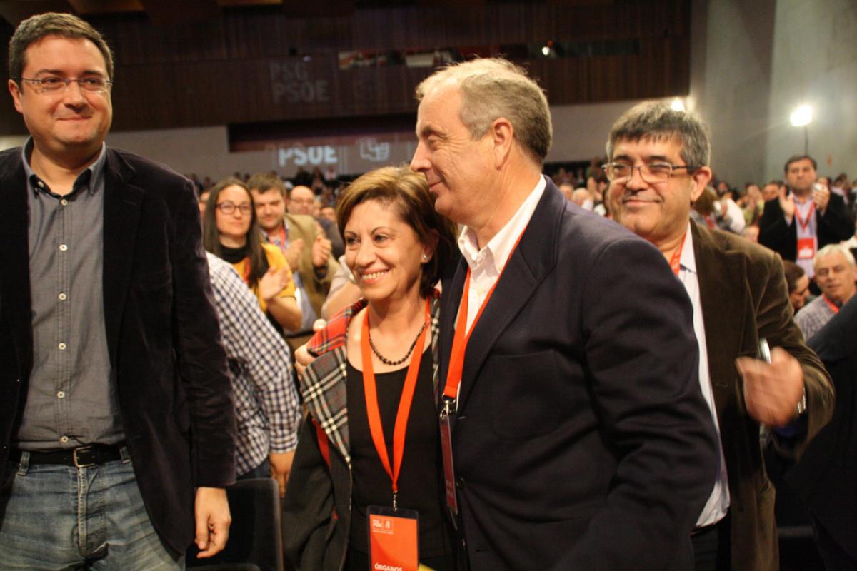 Elena Espinosa e Pachi Vázquez, nun intre do Congreso