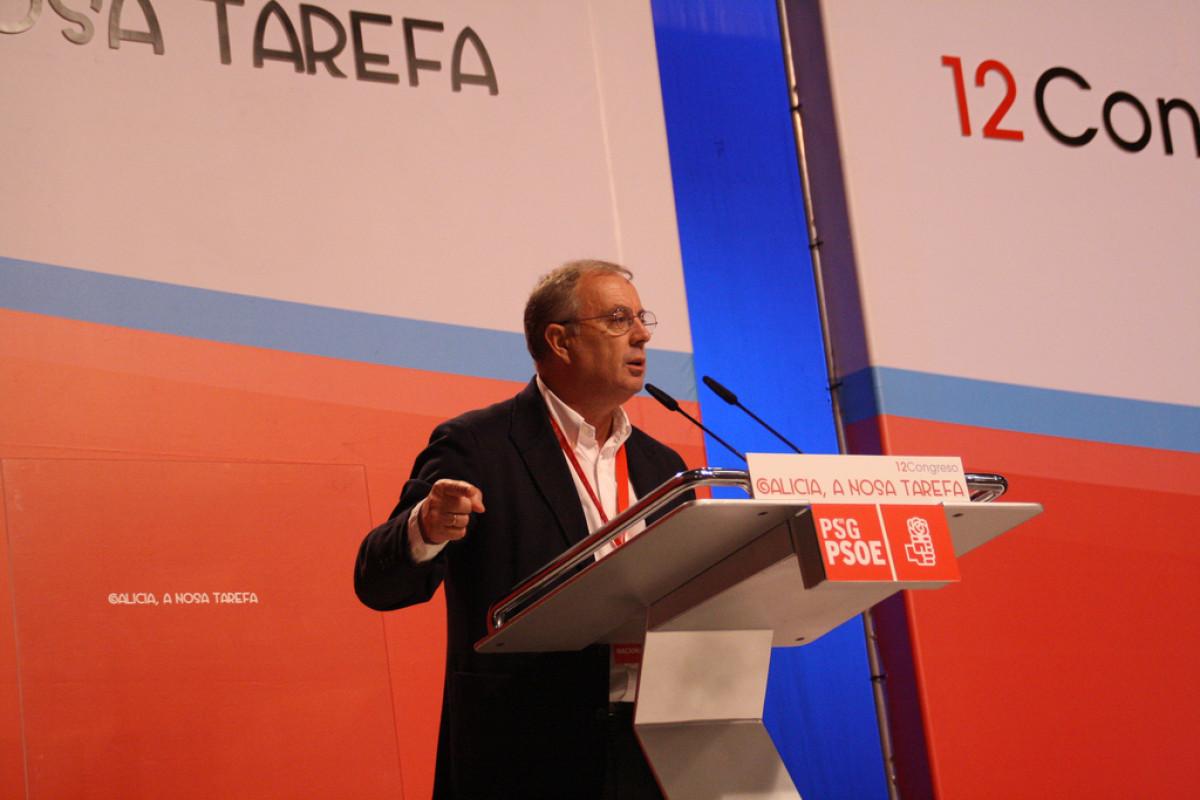 Pachi Vázquez intervén ante o Congreso Nacional do PSdeG