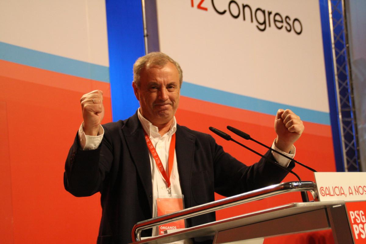 Pachi Vázquez, tras ser proclamado vencedor do Congreso