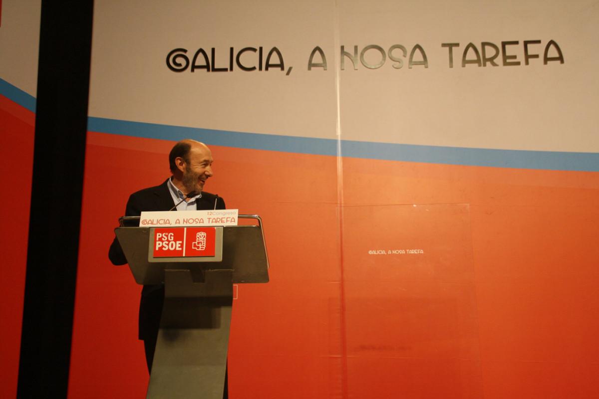 Rubalcaba intervén ante o Congreso do PSdeG