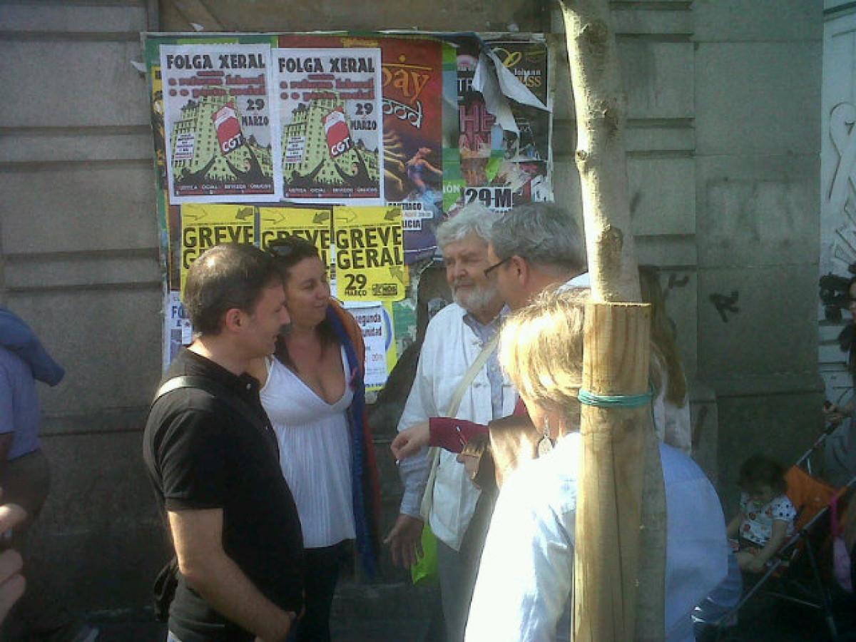 Beiras e Bascuas, na manifestación da CIG en Vigo durante a folga xeral