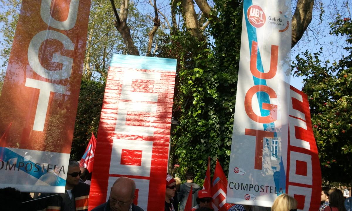 CCOO e UGT en Santiago
