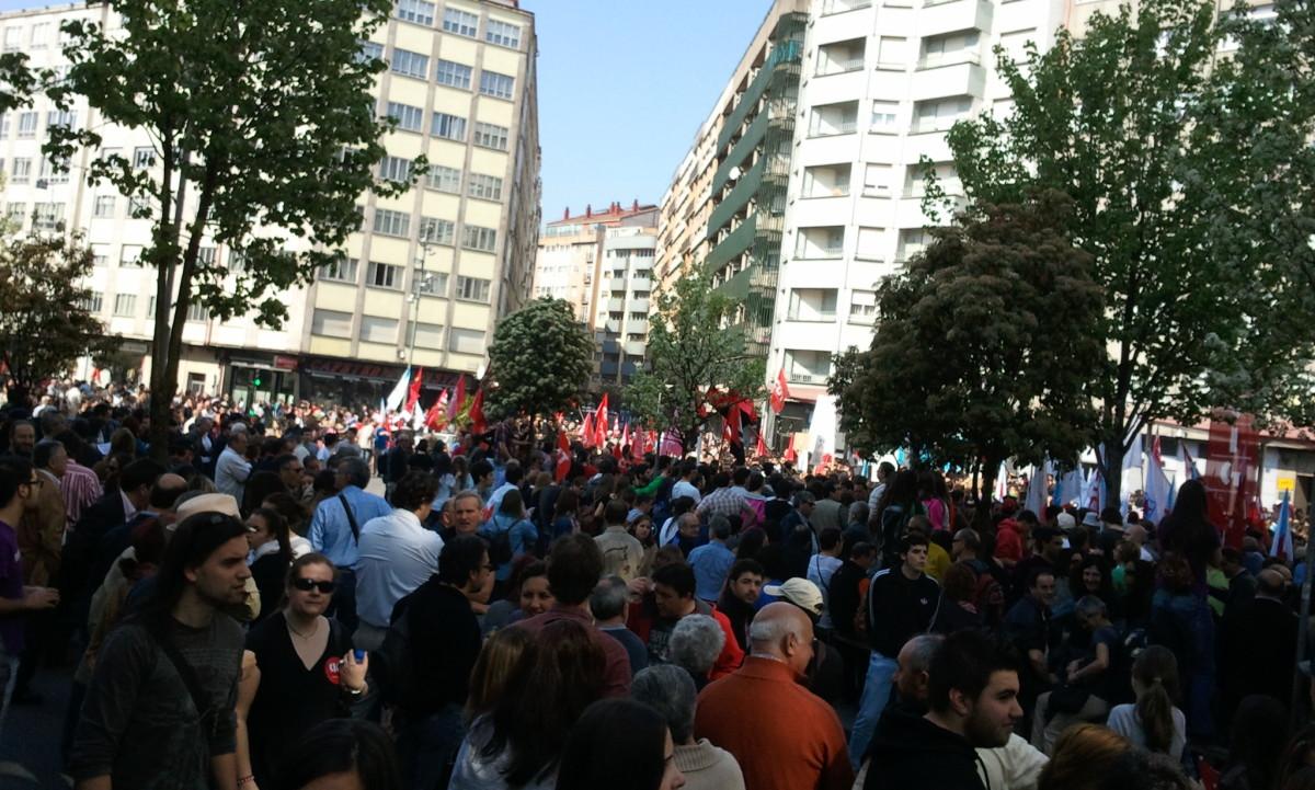 Inicio da marcha da CIG en Compostela