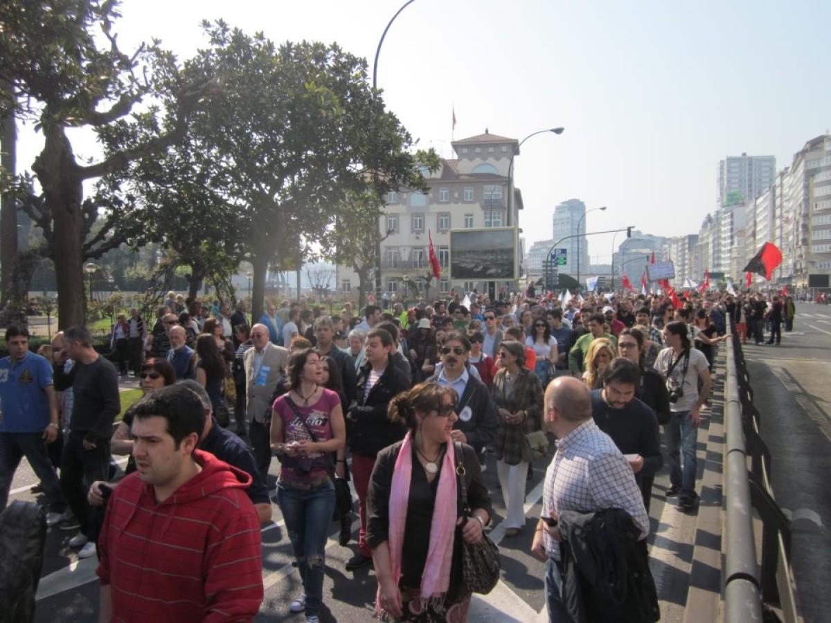A manifestación da CIG na Coruña