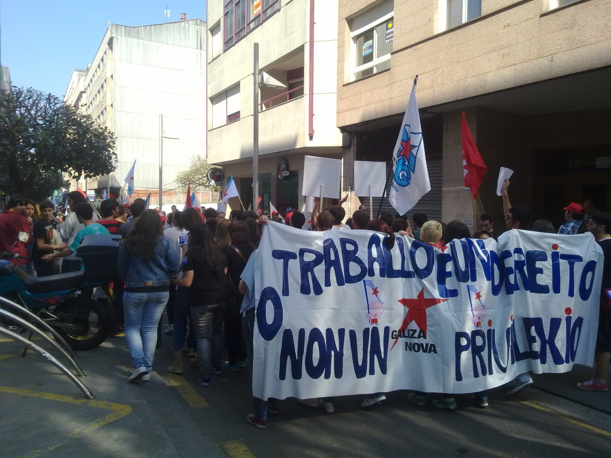 A manifestación da CIG en Pontevedra