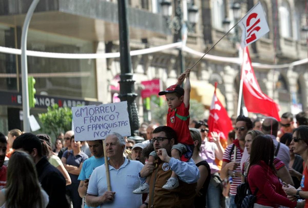 Manifestantes da CIG en Vigo