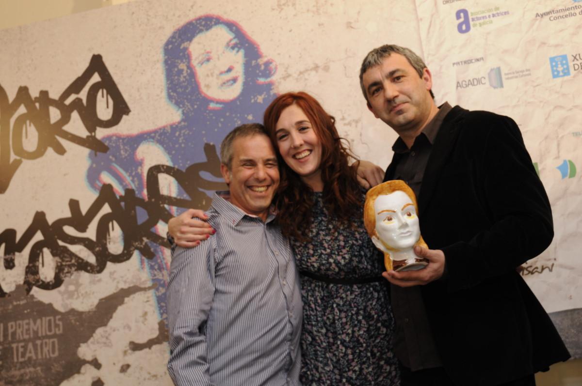 Avelino González, Artur Trillo, María Ordoñez, premio ao mellor texto