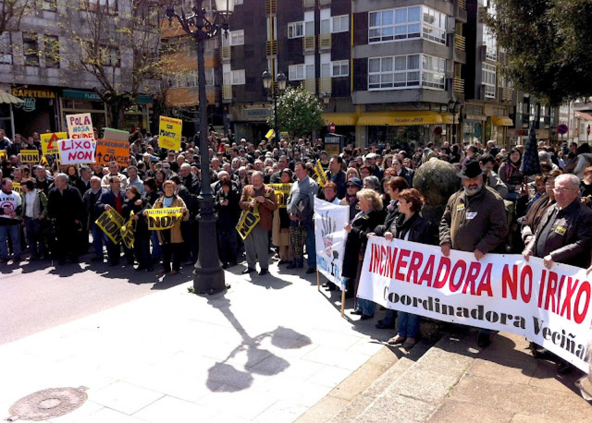 Concentración dos manifestantes