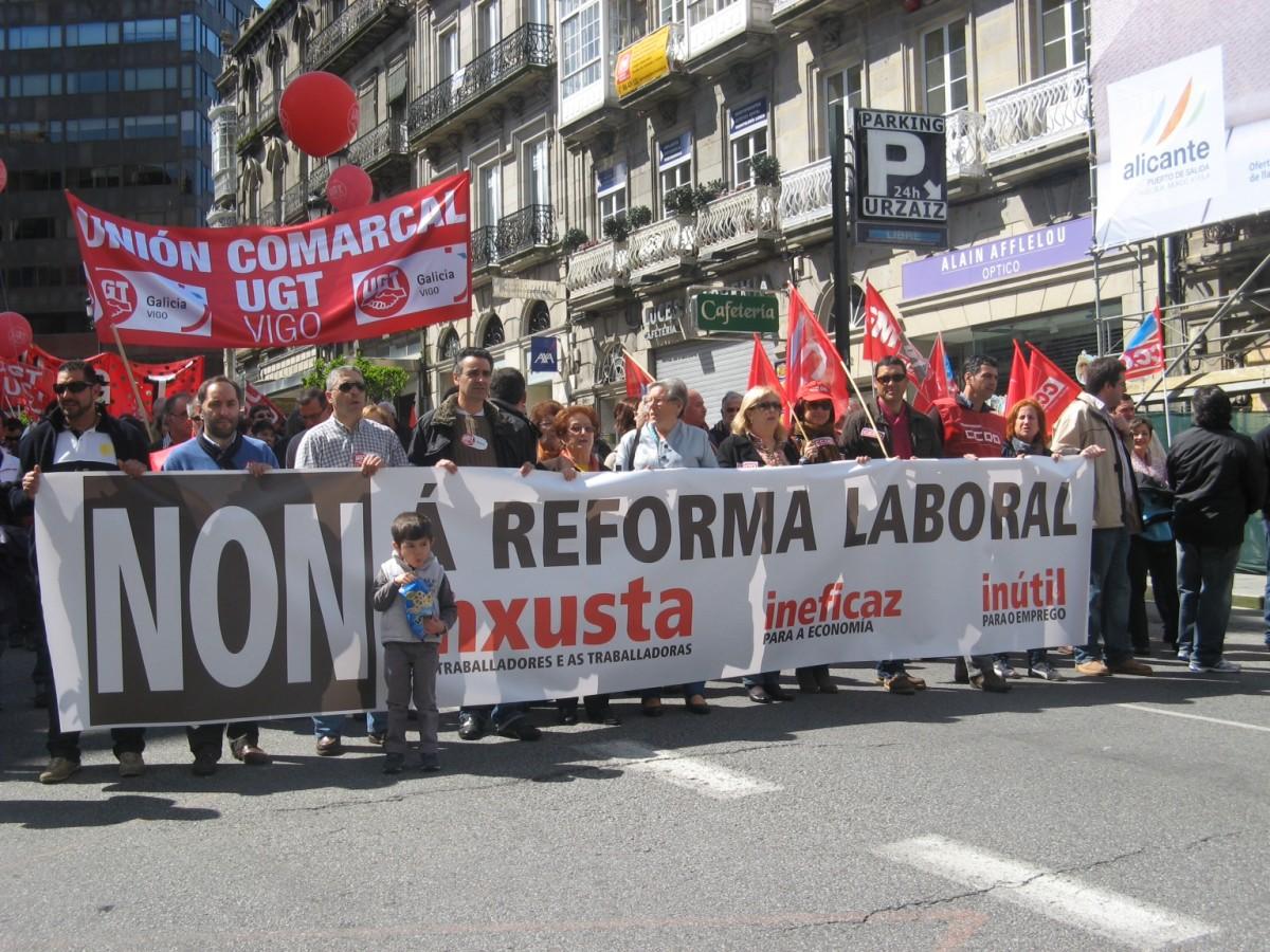 A manifestación, en Vigo