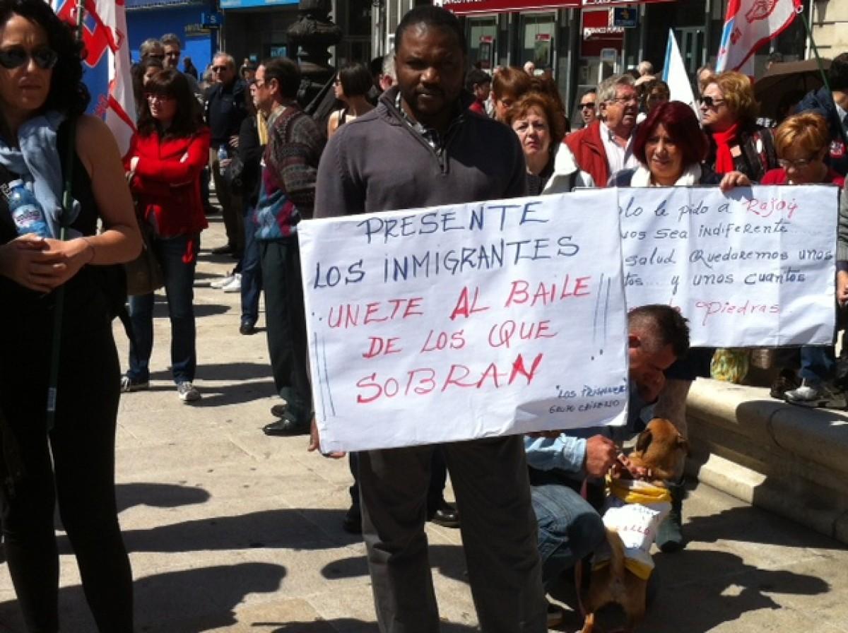 A manifestación, na Coruña