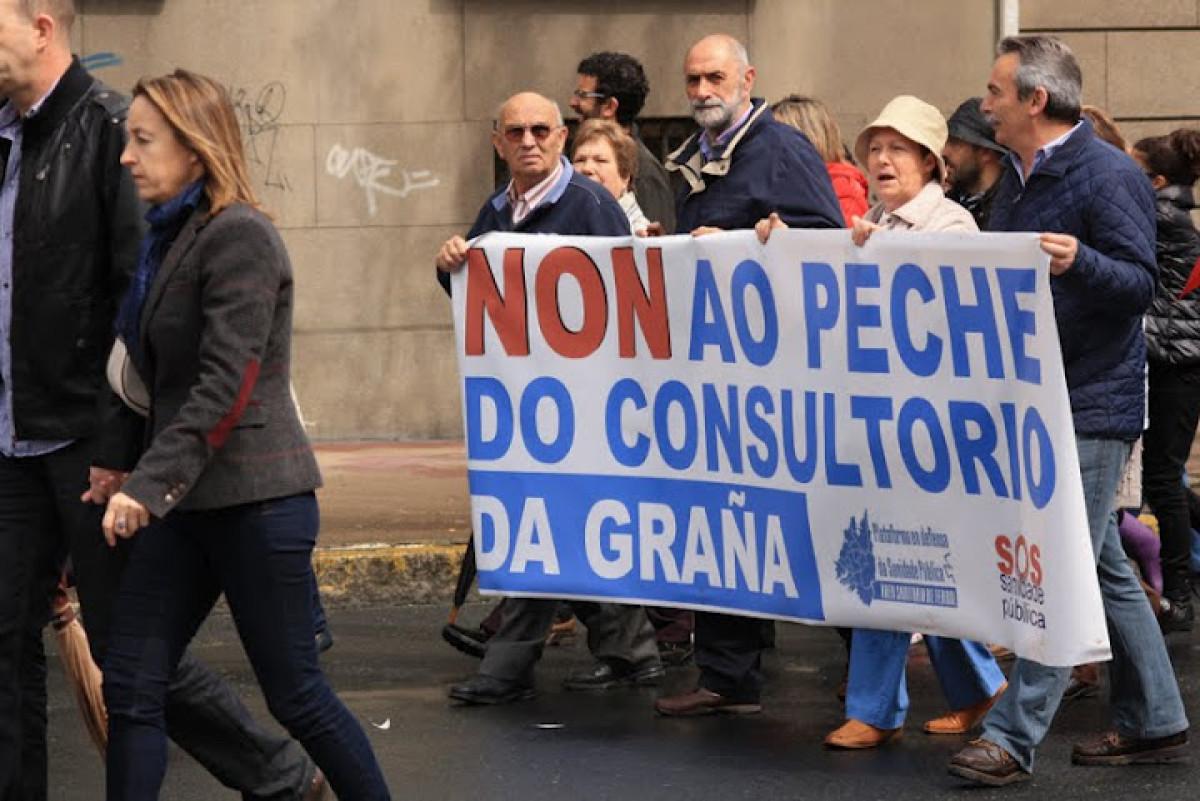 A manifestación, en Ferrol