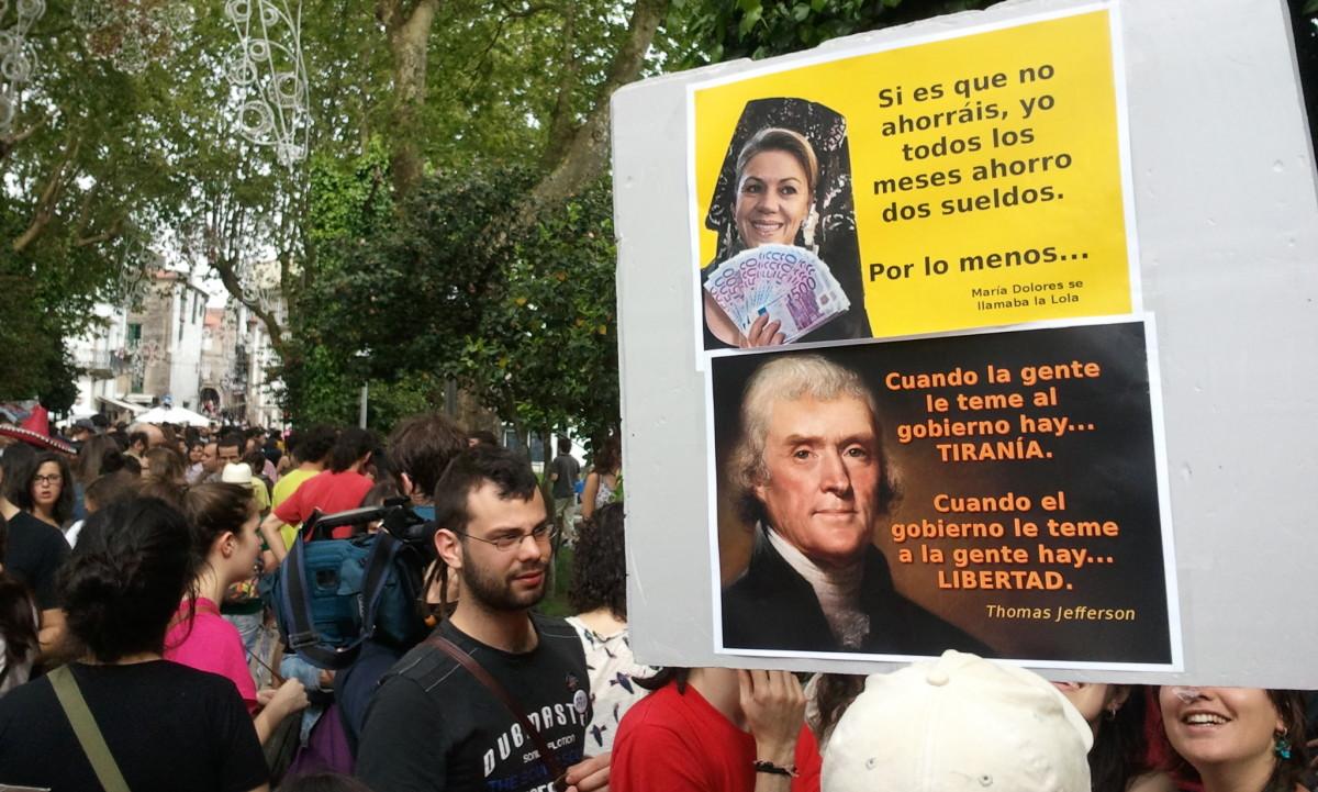 De Cospedal, lembrada en Santiago