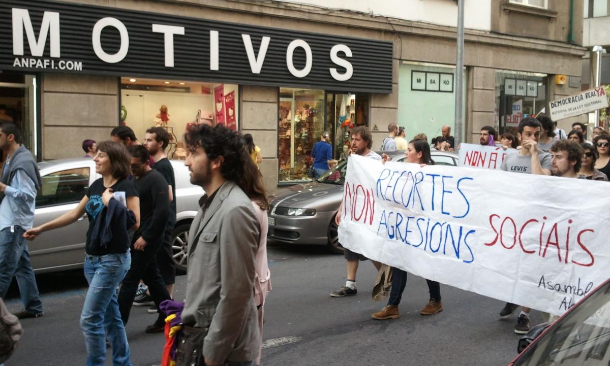 Os motivos para a protesta, en Compostela