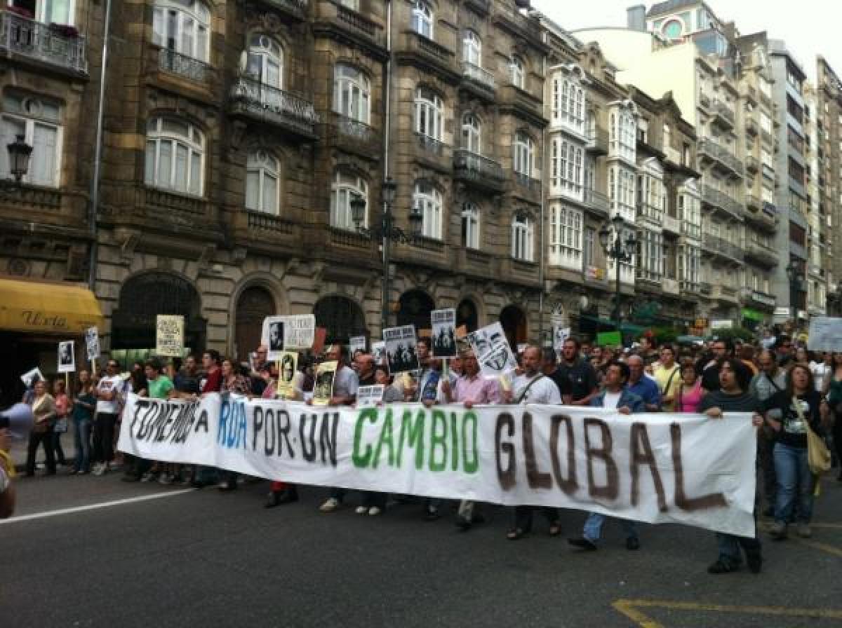 Pancartas en Vigo