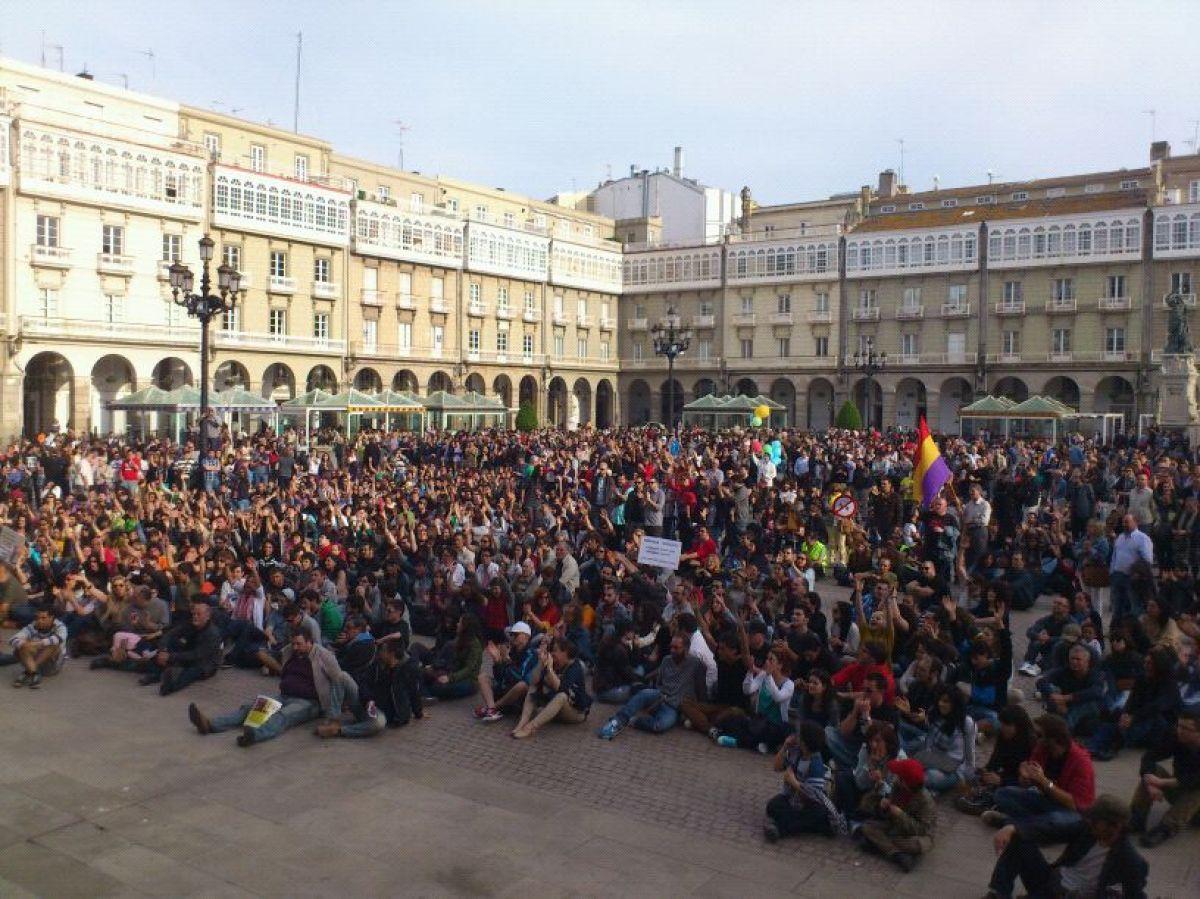 Remate da manifestación na Coruña