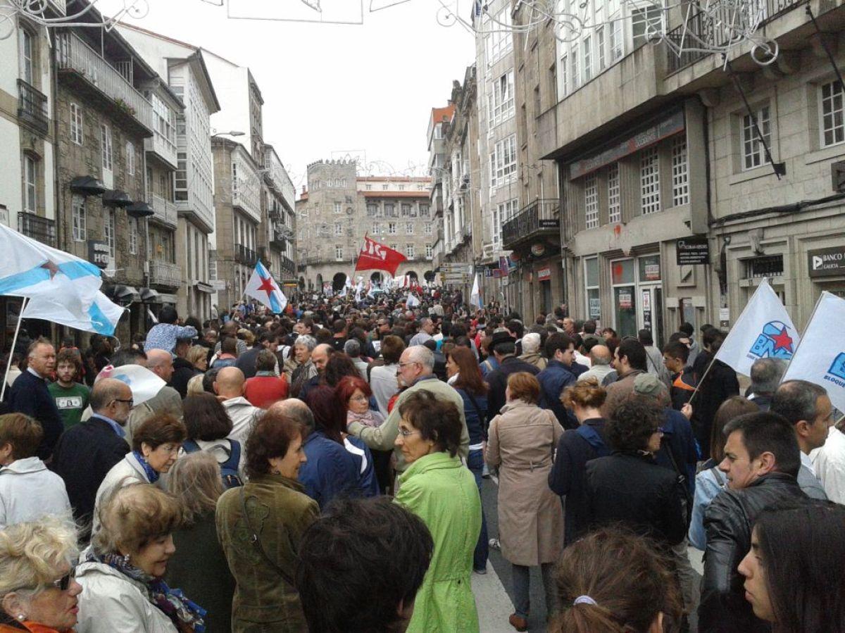 Percorrido da marcha polas rúas de Compostela