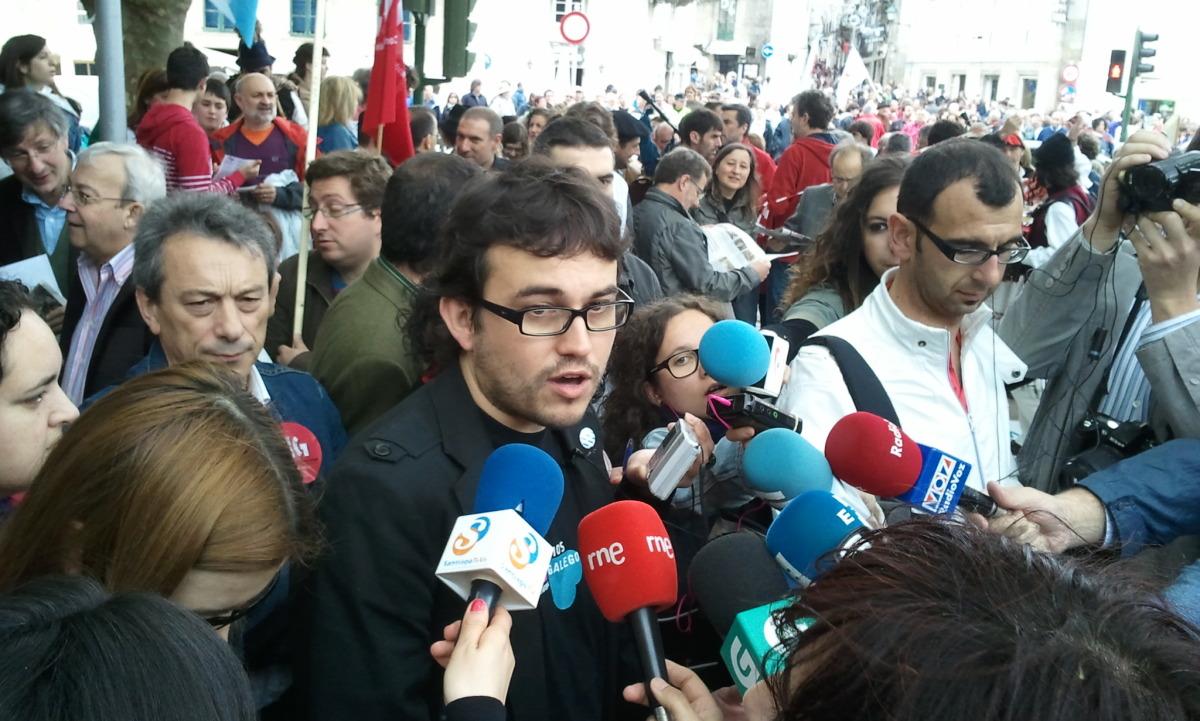 Callón, nunha comparecencia ante a prensa