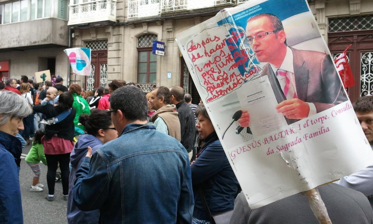 Manifestación a prol do ensino en galego