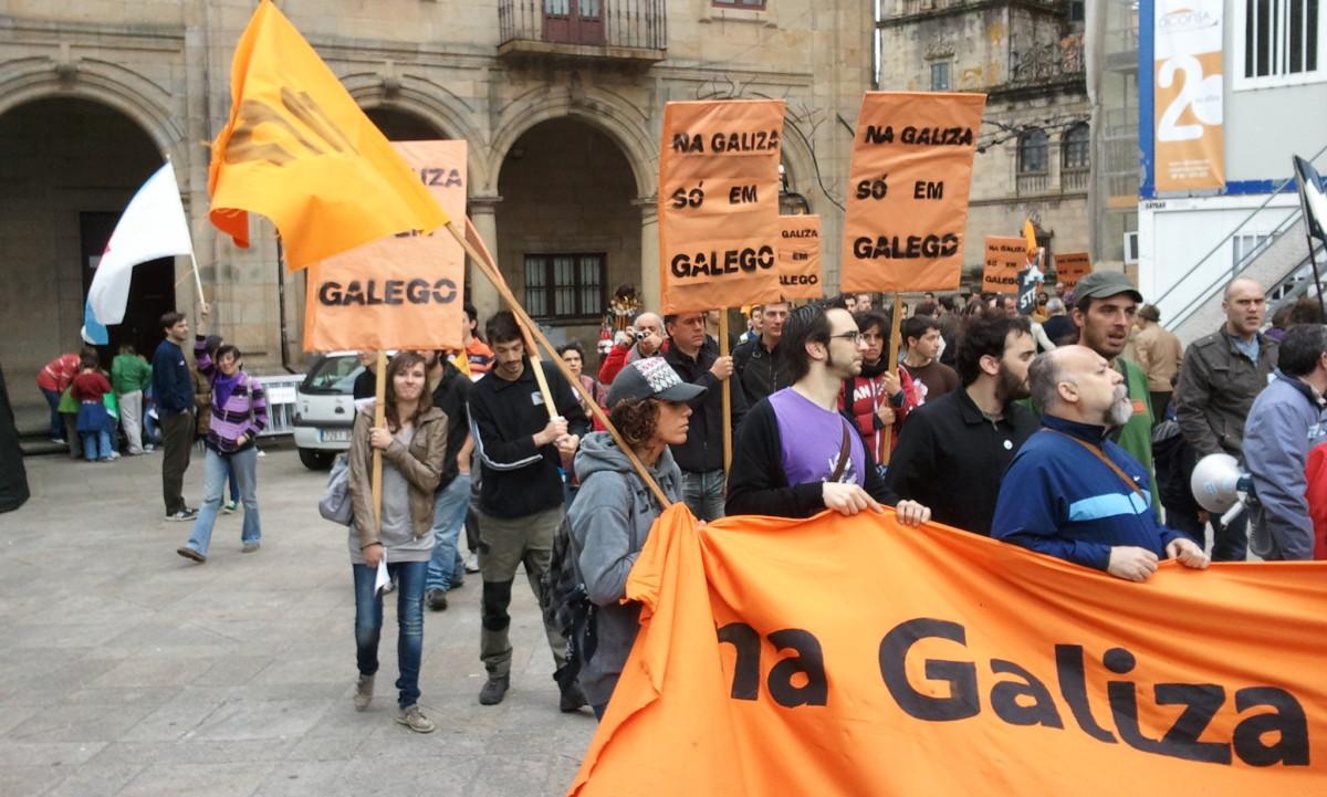 Chegada do 'bloco laranja' de reintegracionistas
