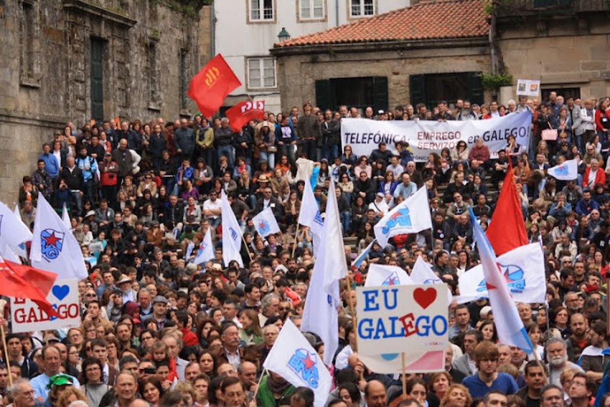 A manifestación, na Quintana