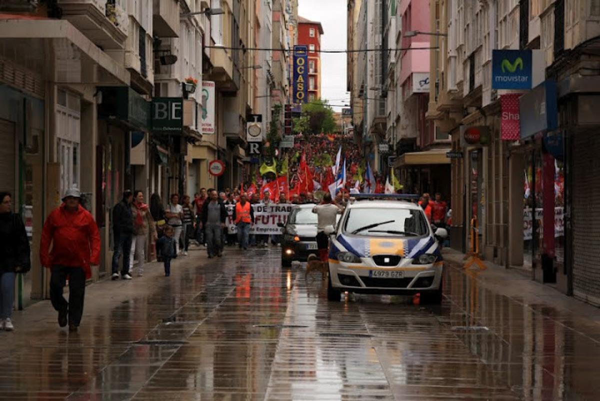 A marcha, polo centro da cidade