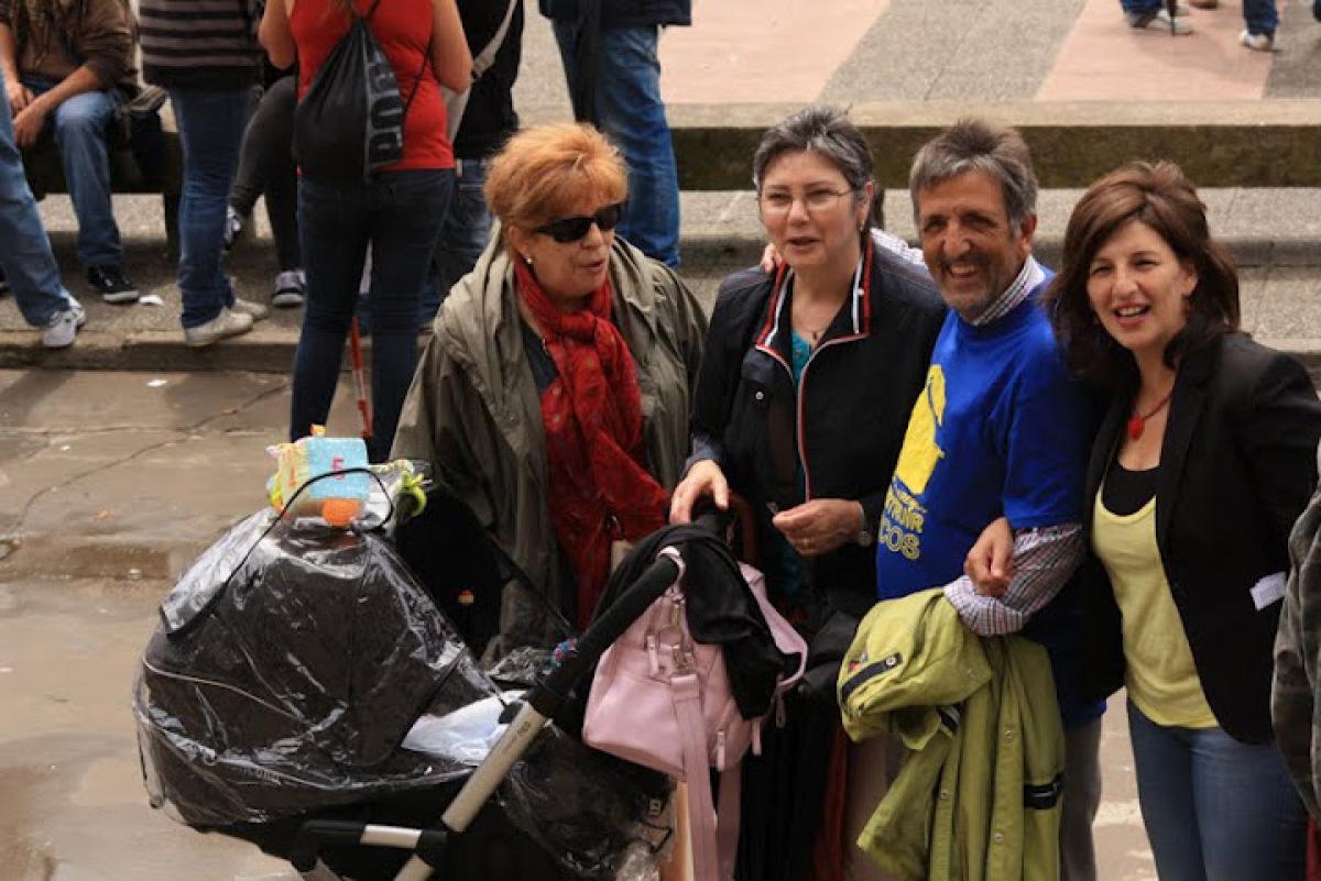 Yolanda Díaz, líder de EU, na marcha
