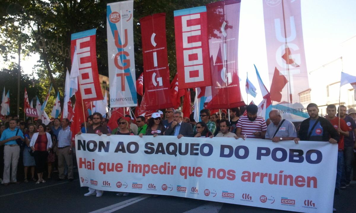 Inicio da manifestación en Santiago