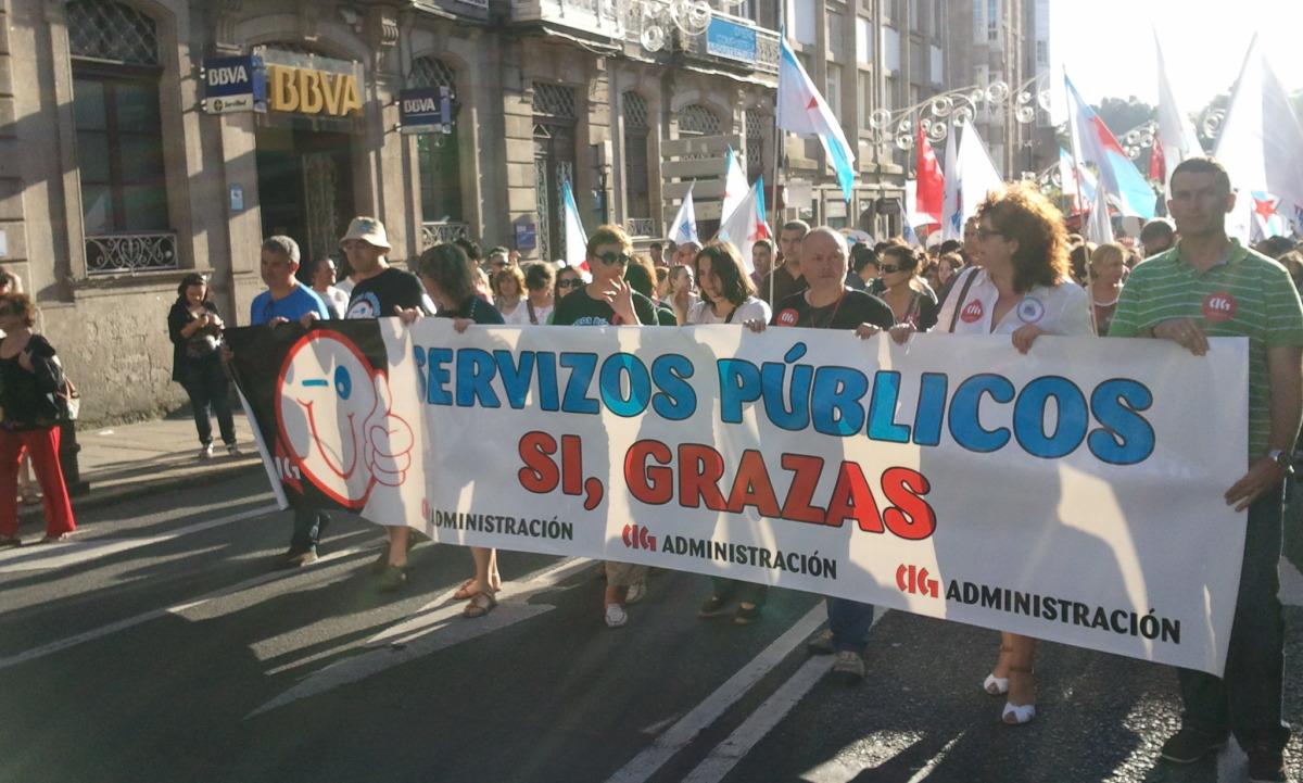 Faixa da CIG-Servizos en Santiago