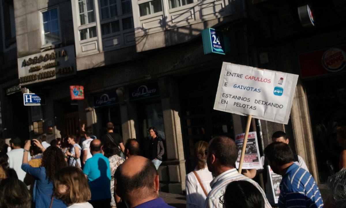 Pancartas en Compostela