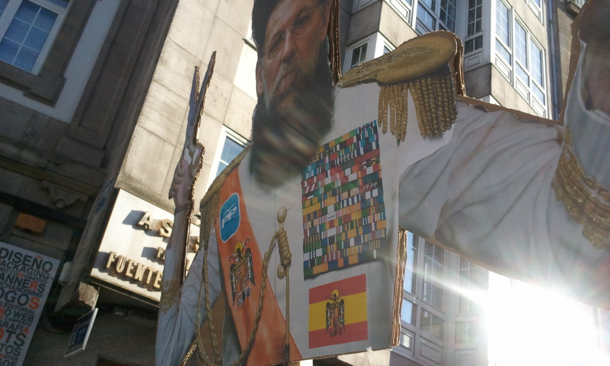 Parodia de Rajoy en Santiago