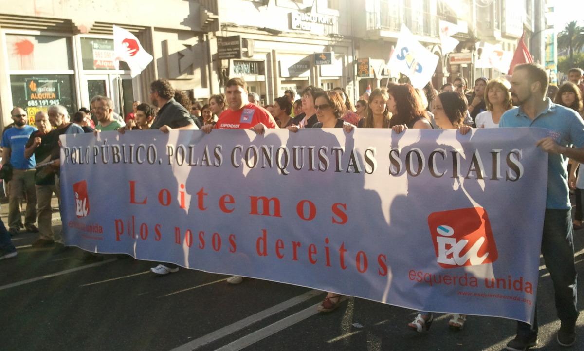 Comitiva de Esquerda Unida en Santiago