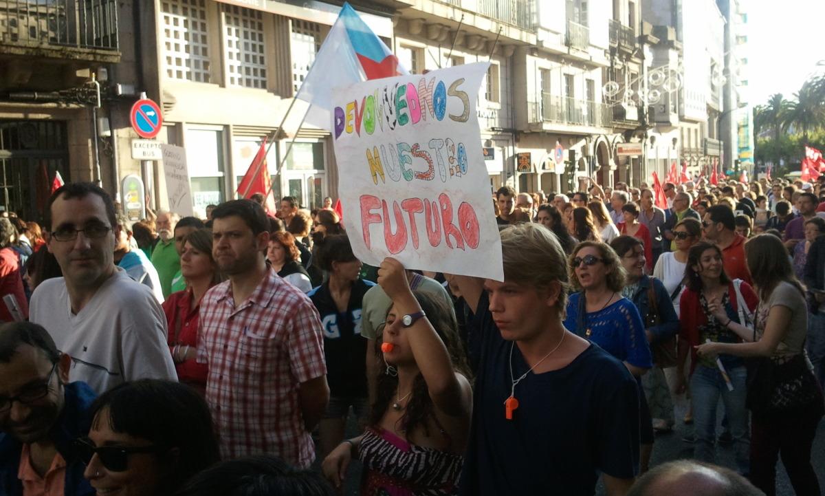 Xente nova en Compostela