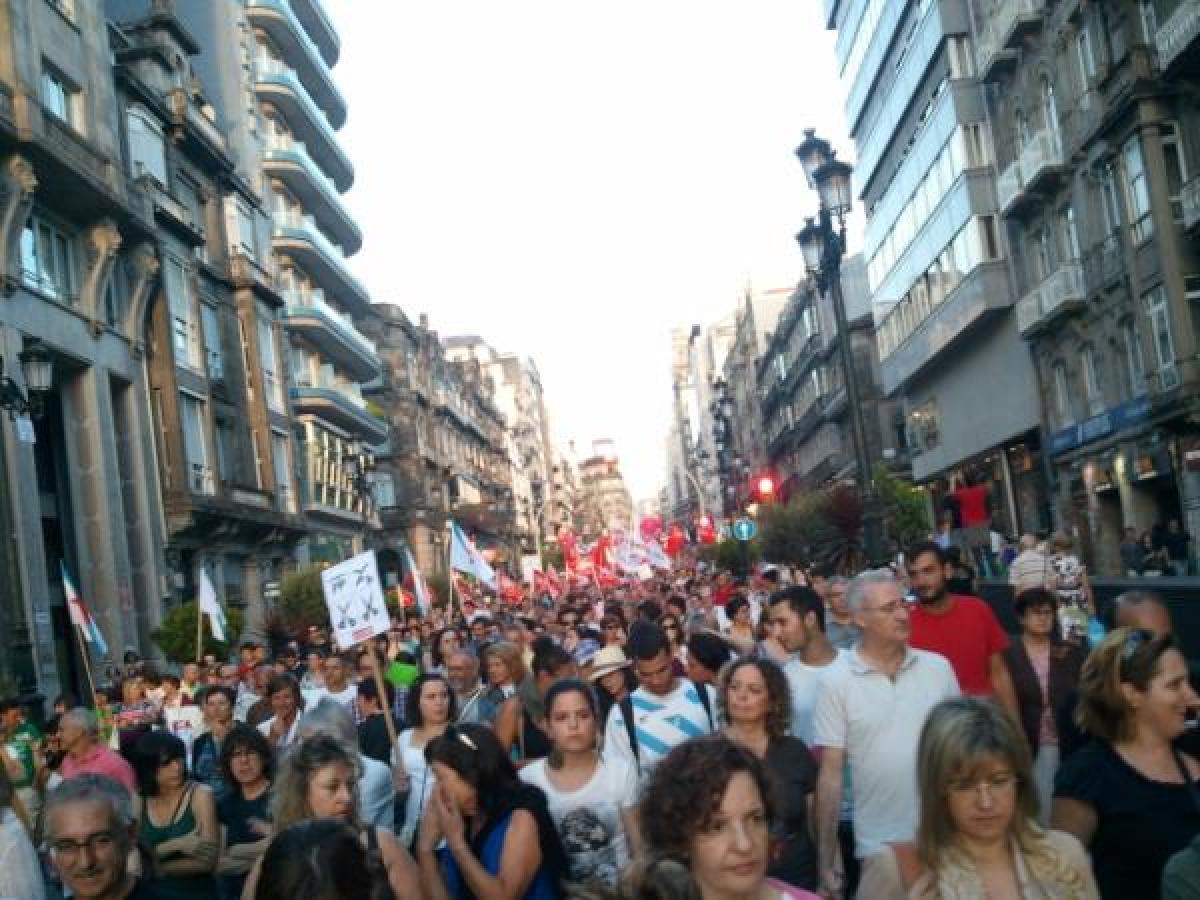 Multitude en Vigo