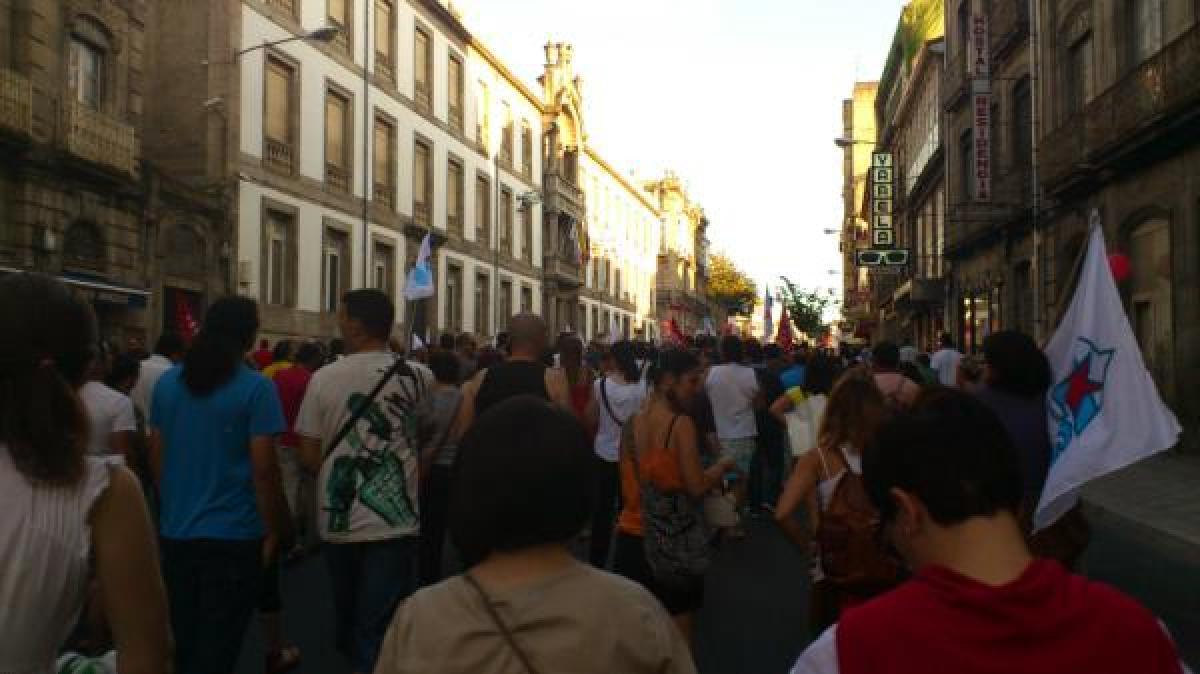 A protesta, ante a Deputación de Ourense